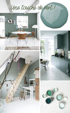 PAINT A WALL OF THE HOUSE IN GREEN. The many shades of this color bring freshness and reinvent the decor. With a touch of undeniable nature and simple to … Source by grimaudcarole House Design, Colorful Interiors, Home Decor, House Interior, Home Deco, Interior Design Living Room, Green House Design, Interior Design, House Colors