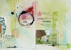 """Art Journal page """"I'm glad you're here' by Anna-Maria on Flickr"""