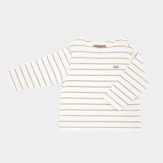 "Tee-shirt marinière ""hello"" sur Plumeti"