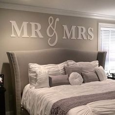 wedding present, wall signs, above bed decor