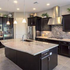 kitchen black cabinets decor theme ideas 48 beautiful stylish inspirations for the backsplash with dark light granite story zaradesignhomedecor com