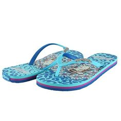 1fb7121dc4646f Ed Hardy Womens Jungle Flip Flop Sandal Turquoise Size 70     Read more  reviews
