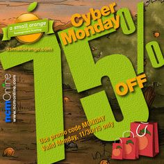 For one day only — Cyber Monday 2015 — you can purchase any of A Small Orange's web hosting plans at an enormous discount. One Day Only, Cyber Monday, Coupon Codes, Coupons, Coding, Letters, How To Plan, Orange, Coupon