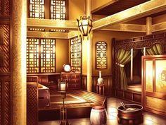Scenery Background, Animation Background, Anime Scenery Wallpaper, Wallpaper Backgrounds, Castle Bedroom, Anime Places, Japanese Castle, Painting Of Girl, Girl House