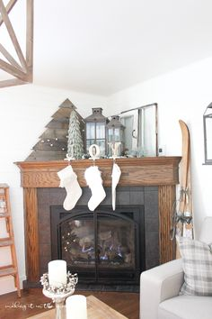 Corner fireplaces are notoriously hard to decorate – they tend to look awkward or empty and it can be so…