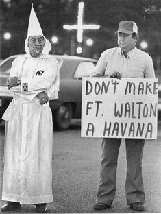 Florida Memory - Klansmen at a rally - Fort Walton Beach, Florida