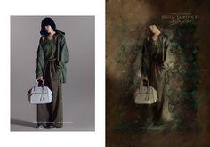 Digital painting fashion illustration