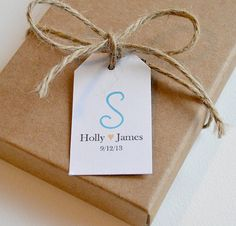 100 Matte Small Label Tags  Custom Wedding by BugandBearDesign, $15.00