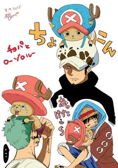 Chopper ,Luffy ,Zoro and Law