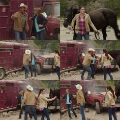 Tim: Georgie, get away from the rock slide! Come on!  Amy: Can, can we still drive it out?  Tim: No, no, we're not going anywhere in that. Just, just, just get back. Please, both of you. (10x09)