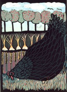 Buy Little black hen, linocut reduction, Linocut by Mariann Johansen-Ellis on Artfinder. Discover thousands of other original paintings, prints, sculptures and photography from independent artists.