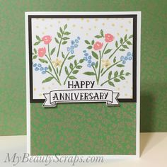 BeautyScraps: Let's Celebrate our Anniversary with Stampin' Up! Number of Years Stamp Set - Blogging Friends Blog Hop September 2016