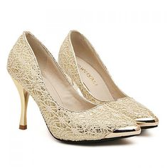 Fashion Metal Toe and Lace Design Pumps For Women, APRICOT, 39 in Pumps | DressLily.com
