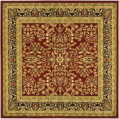 Safavieh Lyndhurst Red/ Black Rug (10' Square)