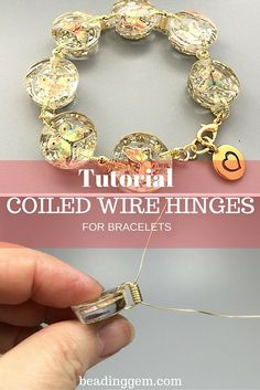 How to Make Coiled Wire Hinges to Connect 2 Hole Beads ~ The Beading Gem's Journal ~ Wire Jewelry Tutorials