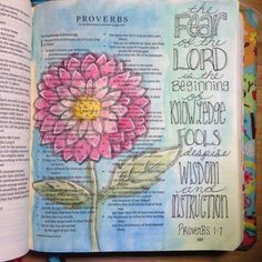 The fear of the Lord is the beginning of knowledge. #IlluminatedJournaling #illustratedfaith #biblejournaling #journalingBible #proverbs @janngray I just finished the first sessions of the line art class. ☺️