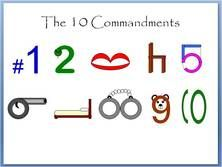 10 Commandments pneumonic device. Great for helping kids (or yourself) memorize the order of the 10 commandments!