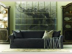 A masculine living room or a very cool man cave? #decor #interiordesign via @Celadon Collection