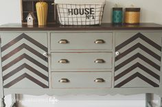 Miss Mustard Seed Milk Paint Trophy Industrial Sideboard | Colour Saturated Life