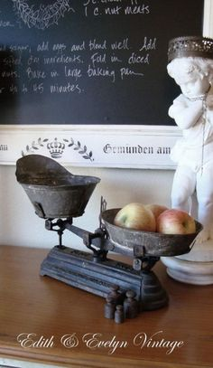 Rare Antique FRENCH Scale Zinc Pans Weights Cast by edithandevelyn on Etsy Old Kitchen, Vintage Kitchen, Old Scales, Old Country Stores, Weighing Scale, Shabby, French Country Decorating, My New Room, Rare Antique