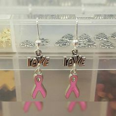 Check out this item in my Etsy shop https://www.etsy.com/listing/462020503/charming-breast-cancer-earrings