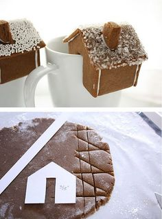mini gingerbread houses.... Each kid decorate their own!