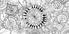 krokotak lets draw escherstyle 13 coloring pages - HD 2560×1280