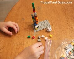 Math with Legos: Preschool Roll and Count - Frugal Fun For Boys For Joey