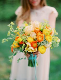 sweet summer florals // photos by Marta Locklear Photography // floral design by Janie Medley