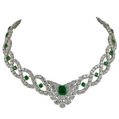 Cartier Diamond Emerald Necklace 1
