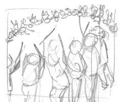 63. Early Battle Scenes 4(last one); pencil on paper