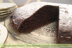 Torta cioccolato e arancia senza uova o burro