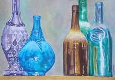 """Glass Distinctions"" -watercolor by Judy Delmonico-Roll"