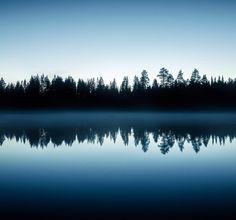 Twilight reflections. Photo by Jani Ylinampa. Via @janiylinampa instagram. Rovaniemi, Finnish Lapland.
