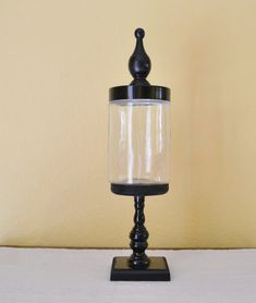 One Apothecary Jar / Glass Candy Jar on Pedestal by GiftsbyGaby