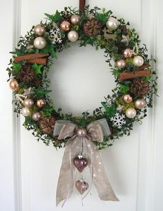 Türkranz Weihnachten weihnachtskranz grün adventskranz wandkranz türkranz weihnachten