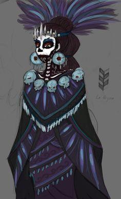 Mictecacihuatl Aztec Goddess of Death + Mictlantecuhtli's wife