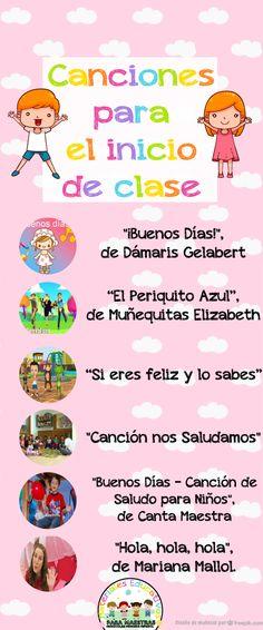 Divertidas canciones infantiles para cantar en el inicio de clase para dar la bienvenida al colegio.