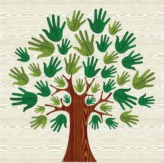 Illustration of Eco friendly tree hands illustration for greeting card over wooden pattern. file layered for easy manipulation and custom coloring. vector art, clipart and stock vectors. Diy For Kids, Crafts For Kids, Arts And Crafts, Paper Crafts, Hand Illustration, Wooden Pattern, Handprint Art, Art Plastique, Preschool Crafts