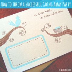 Check out these great tips for throwing yourself a perfect going away party before a move.