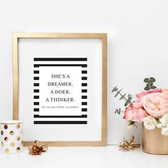 This art print is a must for anyone with an entrepreneurial spirit. (Also love that polka dot candle!)