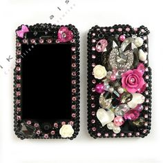 iPhone Customize Bling Swarovski Crystals Phone Cover Case