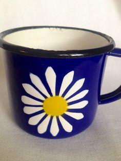 1960s Danish enamel mug