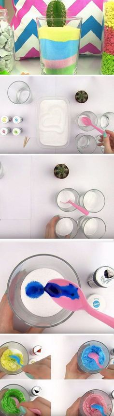 DIY Colored Sand Jar: Say hello to spring with this easy DIY home decoration project.