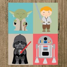 Star Wars Nursery Prints Set of 4 8x10 Wall by MoreThanWords17, $21.00
