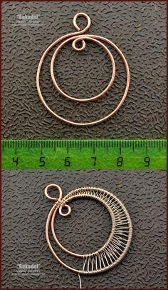 Ręcznie robiona biżuteria.  Samouczki dotyczące owijania drutu.  Wisiorek.