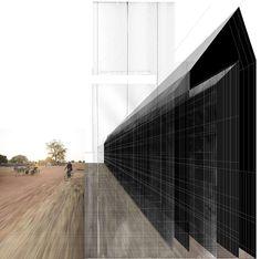 Beniamino Servino. Architettura adeguata. [Nera per Neri]/Adequate Architecture. [Black architecture for Black People]. Skyscraper, Multi Story Building, Louvre, Stairs, Collage, Decor, Art, Art Background, Skyscrapers