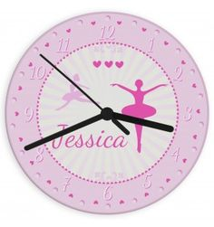 Ballerina Glass Clock | Clocks | Exclusively Personal