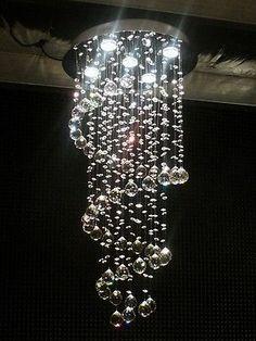 Height-40-Spiral-Crystal-Chandelier-Ceiling-Light-Pendant-Lamp-LED-Lighting