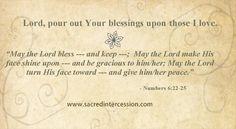 Pray for blessings for loved ones. #prayer card